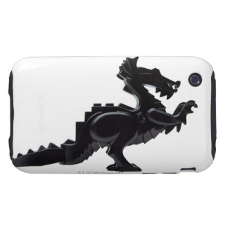 close-up of a toy dragon tough iPhone 3 case