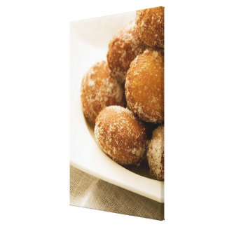 Close-up of a tray of a baked sugar coated canvas print