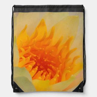 Close-Up Of A Water Lily Drawstring Bag
