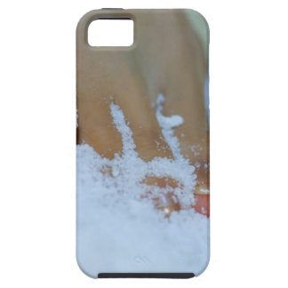 Close-up of a woman's foot in salt iPhone 5 case