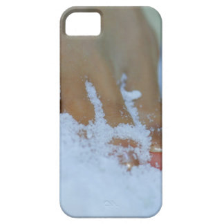 Close-up of a woman's foot in salt iPhone 5 cases
