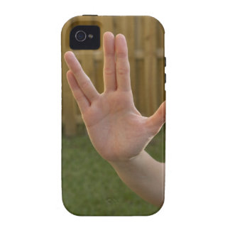 Close-up of a woman's hand making a hand sign iPhone 4 covers