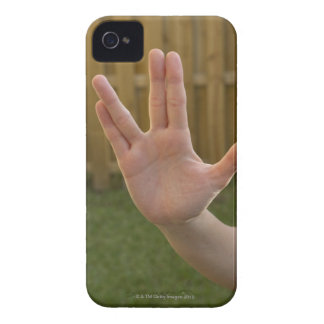 Close-up of a woman's hand making a hand sign Case-Mate iPhone 4 case