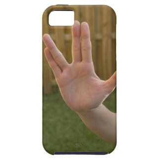 Close-up of a woman's hand making a hand sign iPhone 5 case