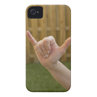 Close-up of a woman's hand making a shaka sign Case-Mate iPhone 4 case