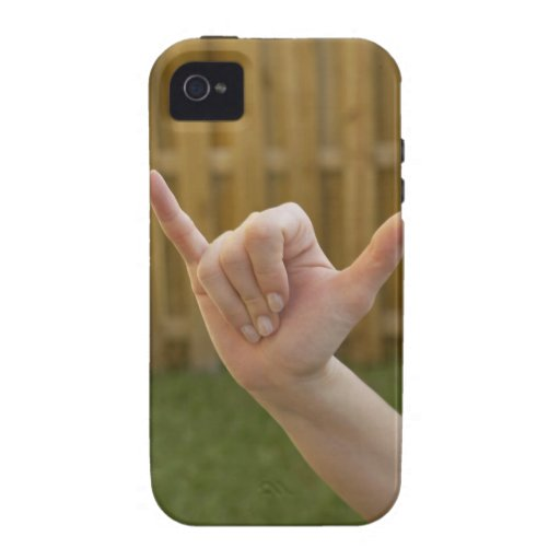 Close-up of a woman's hand making a shaka sign Case-Mate iPhone 4 covers
