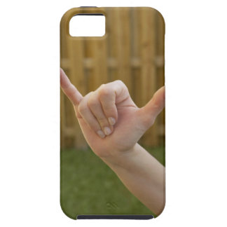 Close-up of a woman's hand making a shaka sign iPhone 5 cover