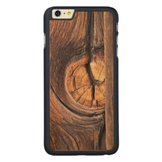Close up of a wood knot, California Carved Maple iPhone 6 Plus Case