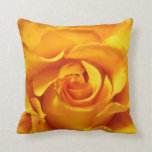 Close Up of a Yellow Rose Pillows