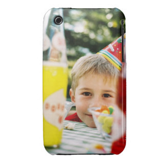 Close-up of a young boy (4-6) at a birthday iPhone 3 cover