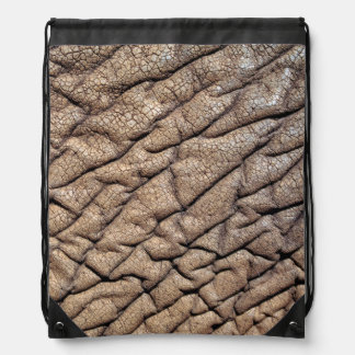 Close-Up Of African Elephant's Hide Drawstring Bag