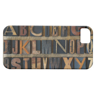 Close up of alphabet on letterpress 2 iPhone 5 cover