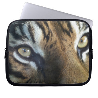 Close up of an adult male Sumatran Tiger Laptop Sleeve