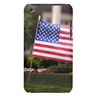 Close-up of an American flag in the front yard Barely There iPod Cases