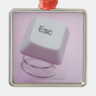 Close-up of an escape key christmas ornament