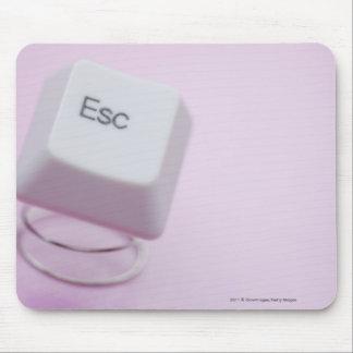 Close-up of an escape key mouse mat