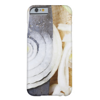 close-up of an onion, being cut into slices barely there iPhone 6 case