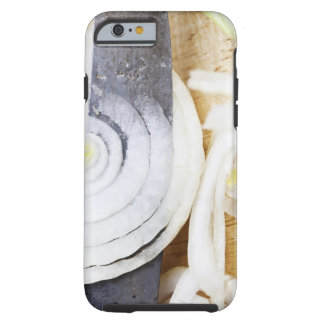 close-up of an onion, being cut into slices tough iPhone 6 case