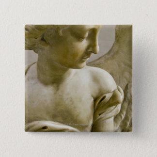 close-up of angel in Santa Maria degli Angeli 15 Cm Square Badge