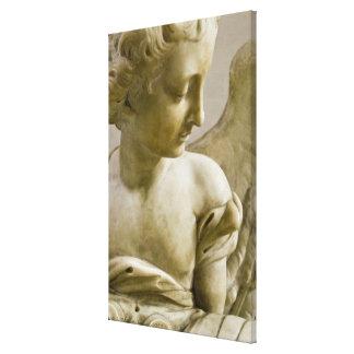 close-up of angel in Santa Maria degli Angeli Canvas Print