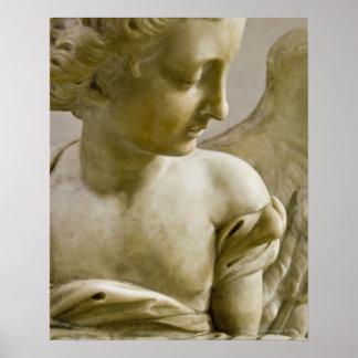 close-up of angel in Santa Maria degli Angeli Poster