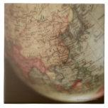 Close-up of antique globe