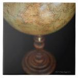 Close-up of antique globe 2 ceramic tiles
