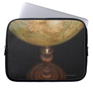 Close-up of antique globe 2 laptop sleeve