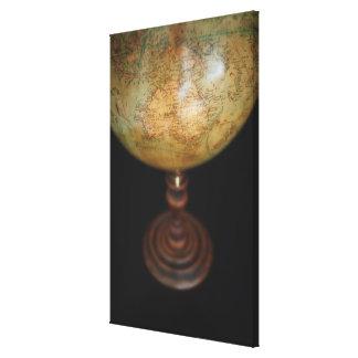 Close-up of antique globe 3 canvas print
