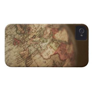 Close-up of antique globe 3 iPhone 4 case