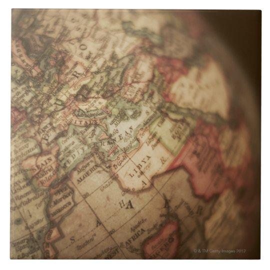 Close-up of antique globe 3 tile