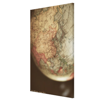Close-up of antique globe canvas print