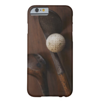 Close up of antique golf clubs and golf ball barely there iPhone 6 case
