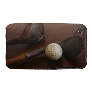 Close up of antique golf clubs and golf ball iPhone 3 Case-Mate cases
