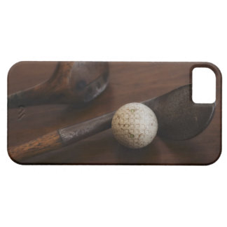 Close up of antique golf clubs and golf ball iPhone 5 covers