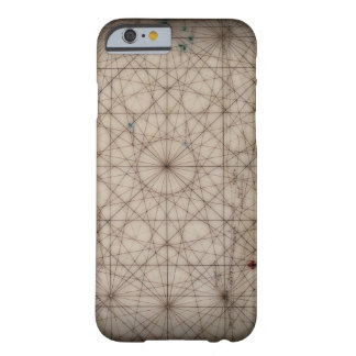Close up of antique map barely there iPhone 6 case
