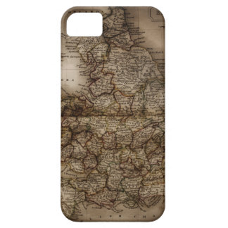 Close up of antique map of England iPhone 5 Cover