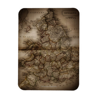 Close up of antique map of England Rectangular Photo Magnet
