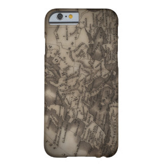 Close up of antique map of Europe Barely There iPhone 6 Case