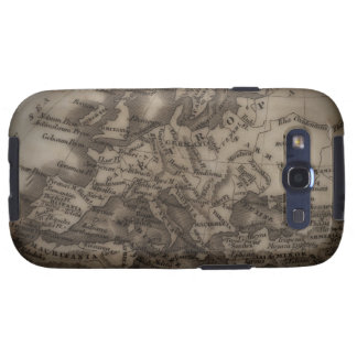 Close up of antique map of Europe Galaxy SIII Case