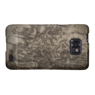 Close up of antique map of Europe Samsung Galaxy SII Cases