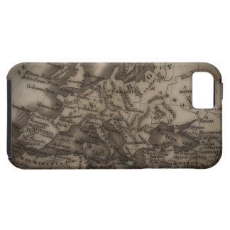 Close up of antique map of Europe iPhone 5 Cases
