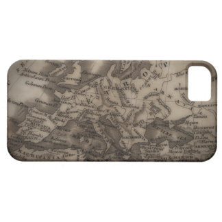 Close up of antique map of Europe iPhone 5 Covers