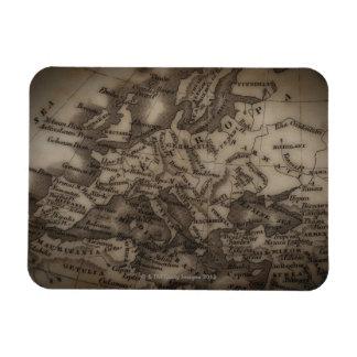 Close up of antique map of Europe Rectangular Photo Magnet