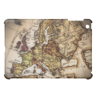 Close up of antique world map 2 cover for the iPad mini