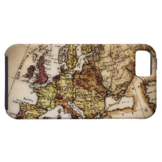Close up of antique world map 2 tough iPhone 5 case