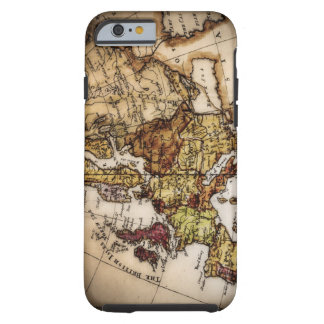 Close up of antique world map 2 tough iPhone 6 case
