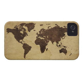 Close up of antique world map 3 iPhone 4 covers
