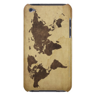 Close up of antique world map 3 iPod touch cases