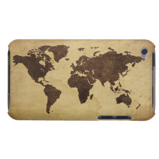 Close up of antique world map 3 iPod touch cover